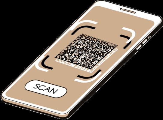 Illustration of Crypto QR and CryptoMatrix technologies