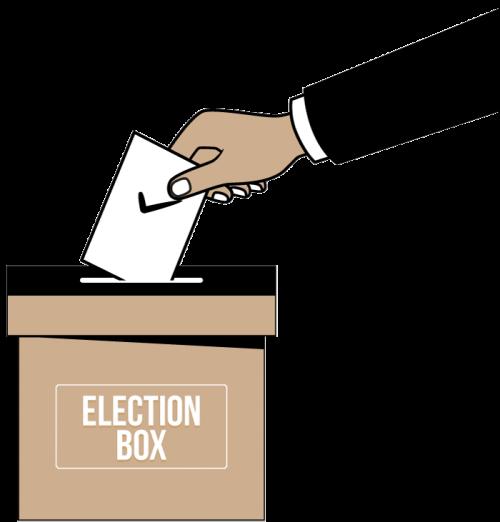 Wahlurne - Sicherung des Wahlvorgangs