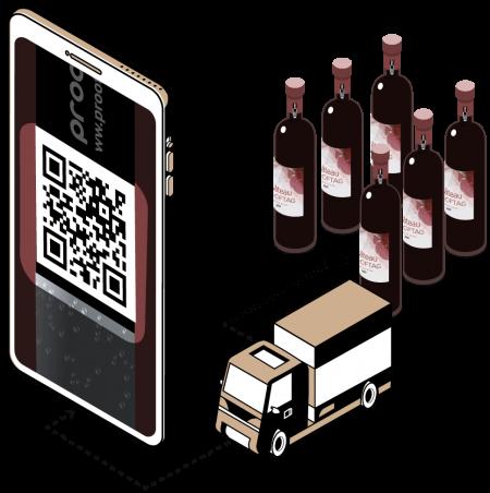 Sicherheits- und Rückverfolgbarkeitslösung für Weinflaschen gegen Parallelmärkte