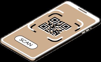 Illustration QR Code track & trace technology